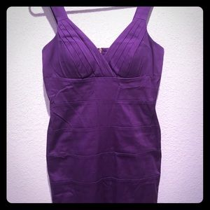 Purple bandage dress. Zip back.